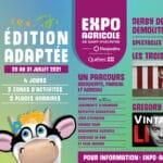 La 184e édition de l'Expo agricole de Saint-Hyacinthe aura lieu du 28 juillet au 31 juillet 2021